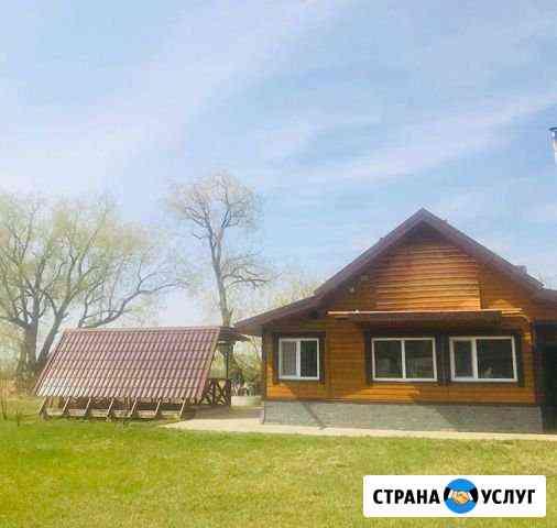 Баня на дровах с бассейном Берег Иртыша Красноярка