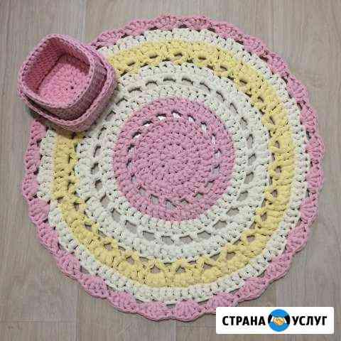 Вязаный коврик из трикотажной пряжи Нижний Новгород