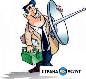 Монтаж спутниковой антенны Саки