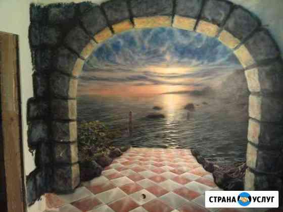 Художественная роспись стен,аэрография Санкт-Петербург