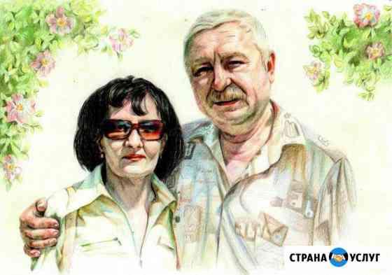 Портрет, шарж на заказ с фотографии Волжский