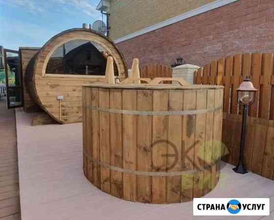 Баня-бочка 6м x 2,50 термо древесина Москва