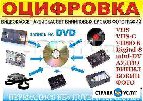 Оцифровка видеокассет Прокопьевск