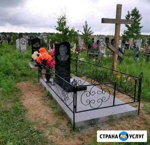 Установка памятников. благоустройство могил Благовещенск