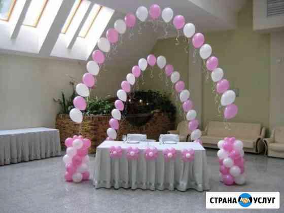 Оформление воздушными шарами, тканью Новокузнецк