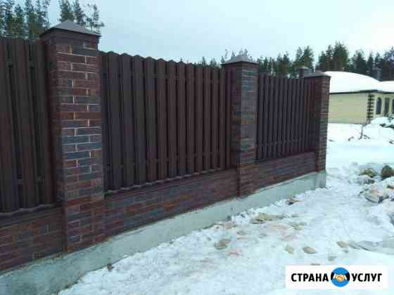 Заборы ворота под ключ Воронеж