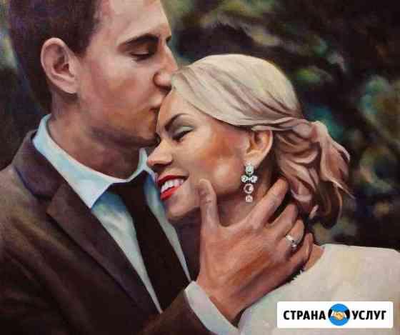 Портреты маслом на заказ Обнинск