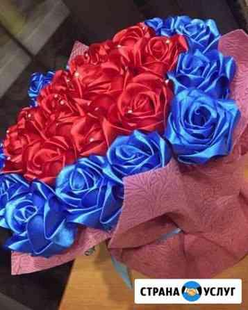 Цветы из лент Тамбов