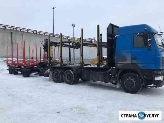 Услуги Лесовозов с гму и прицепом 8м Сокол