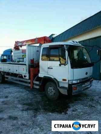 Услуги перевозок, Кран манипулятор с монтажной кар Ишим