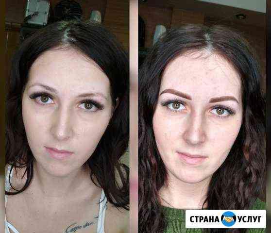 Перманентный макияж бровей (пудровое напыление) Красноярск
