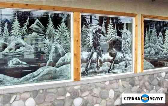 Художественная роспись стен, окон Волжский
