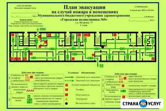 Планы эвакуации по гост Р 12.2.143-2009 в Кузнецке Кузнецк