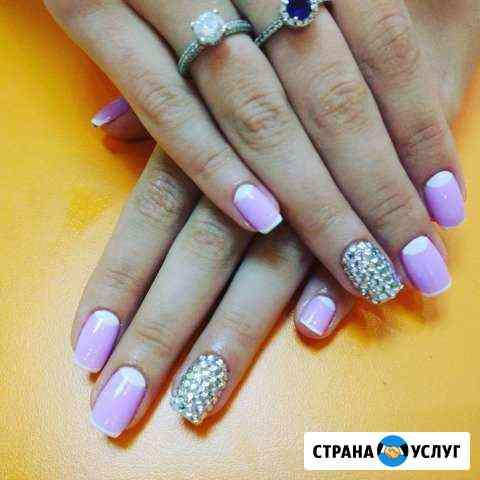 Гель лак манинкюр, наращивание ногтей шугаринг Кемерово