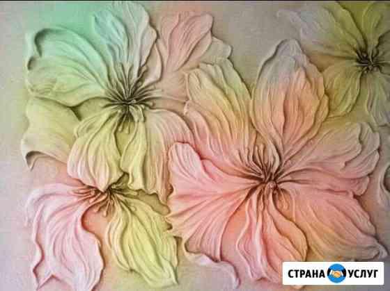 Барельеф и роспись стен Гурьевск