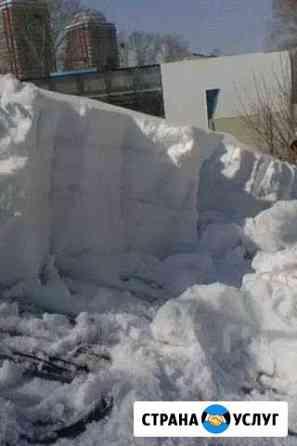 Очистка крыш от снега, сосулек Хабаровск