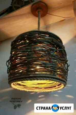 Люстра из дерева в экостиле Майкоп