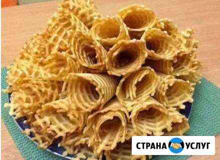 Домашние хрустящие сливочные вафельные трубочки Новороссийск