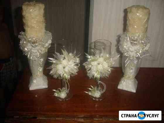 Свадебные свечи и бокалы Нальчик