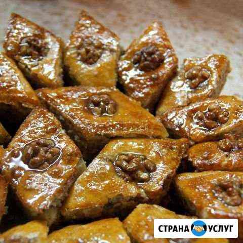 Пахлава и пироги с мясом +картошка Ухта