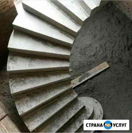 Изтовления. Заливка бетонных лестниц любой сложнос Назрань
