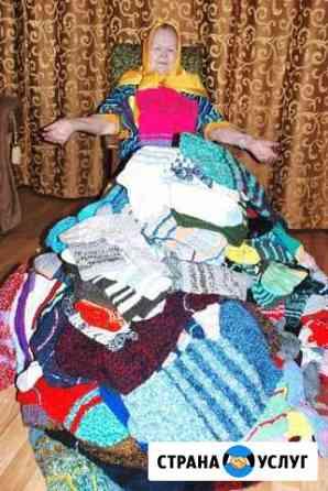 Бабушка вяжет шерстяные изделия на заказ Рязань