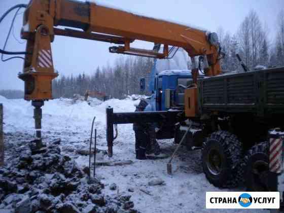 Монтаж больших винтовых свай установкой убм-85 Владимир