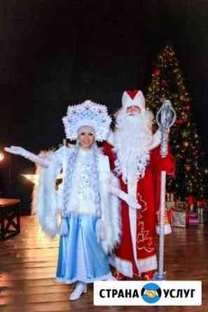 Дед Мороз и Снегурочка домой, в школу Волжский