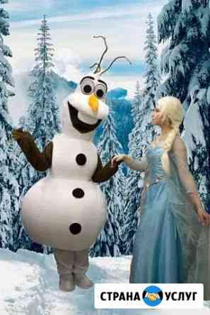 Олаф и Эльза - новогоднее поздравление Мурино