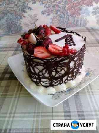 Домашние торты на заказ на день рождения, свадьбу Чебоксары