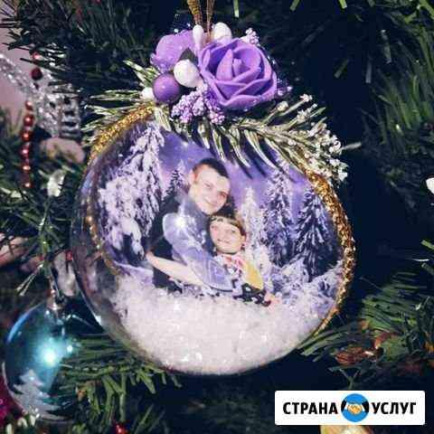 Ёлочный шар с фотографией внутри Калуга