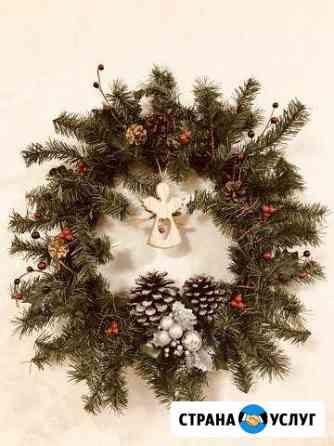 Рождественский венок на заказ Петрозаводск