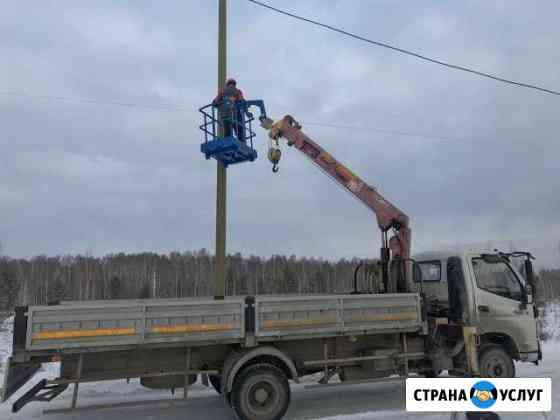 Манипулятор - кран с Автовышка (люлька 2-х мест.) Белоярский