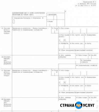 Помощь при заполнении таможенных деклараций Ростов-на-Дону