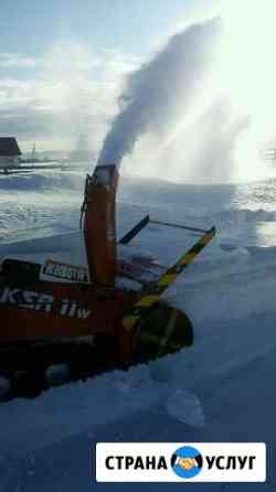 Уборка снега снегоуборочными машинами (шнек, снего Петропавловск-Камчатский