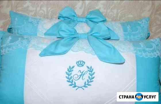 Пошив бортиков в детскую кроватку на заказ Обнинск