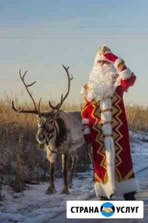 Дед Мороз со своим сказочным северным оленем Саранск