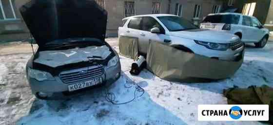 Отогрев авто автоотогрев разогрев Помощь на дороге Ангарск