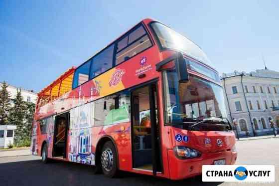 Реклама двух этажный экскурсионный автобус Казань