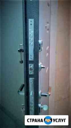 Замена установка врезка ремонт замка личинки ручки Липецк