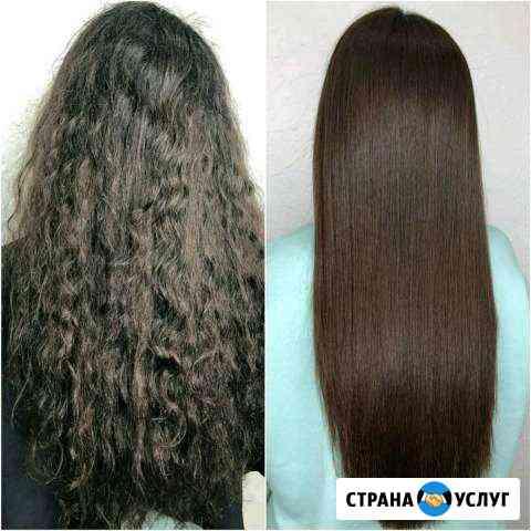 Кератиновое выпрямление, Ботокс волос Пушкин
