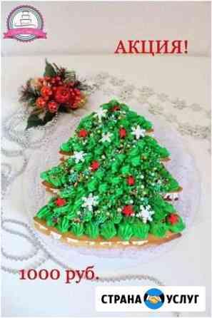 Новогодние торты, капкейки на заказ Краснодар