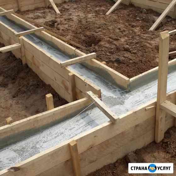 Строительство фундаментов, отмосток Рязань