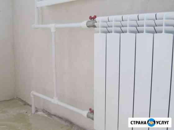Установка (замена) радиаторов отопления, наращивание секций. Замена стояков, установка 2-х кранов и Липецк