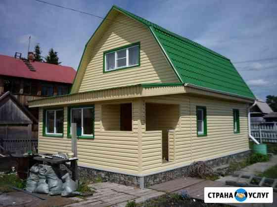 Дачное строительство, обшивка фасадов с утеплением Сургут