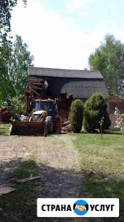 Демонтаж, разборка, домов по городу, области Рязань