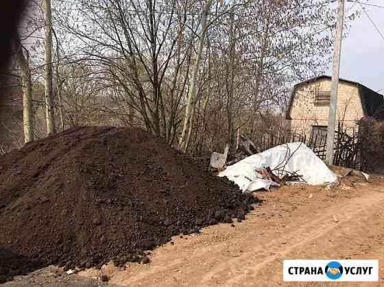 Чернозем, перегной, различный по городу, и области Рязань