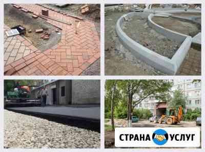Укладка тротуарной плитки, брусчатки, асфальта Великий Новгород