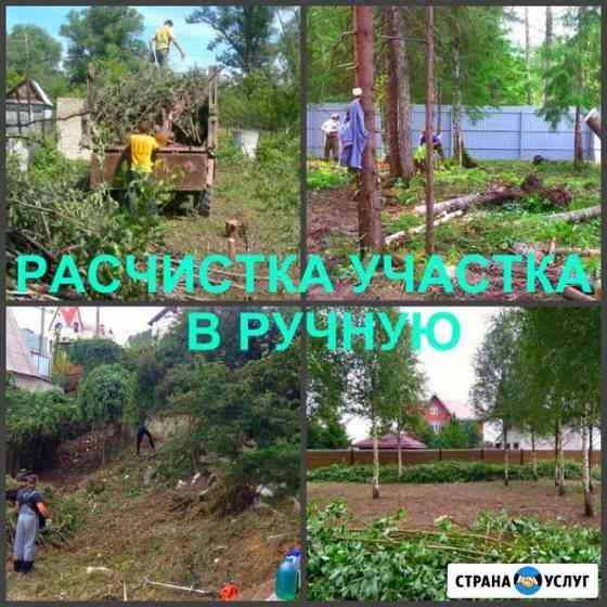 Расчистка участка, спил, удаление деревьев, покос травы Егорьевск
