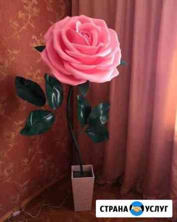 Изготовление торшеров и цветов из изолона Липецк